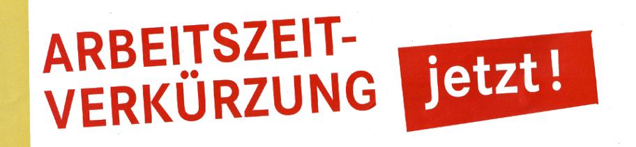 Logo: Arbeitszeitverkürzung jetzt